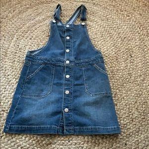 Cat & Jack Girls Denim Overall Dress